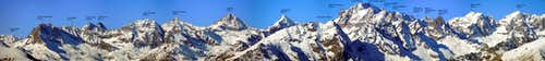 Panoramic view of Gran Paradiso Group from South