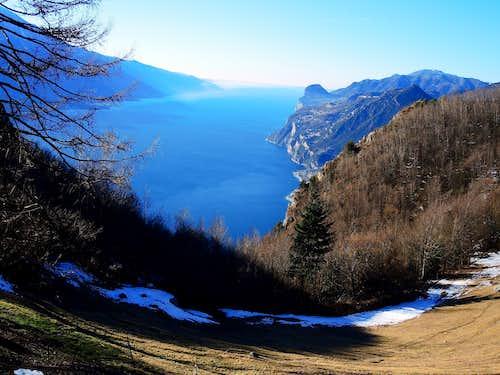 Garda Lake seen from Passo Larici