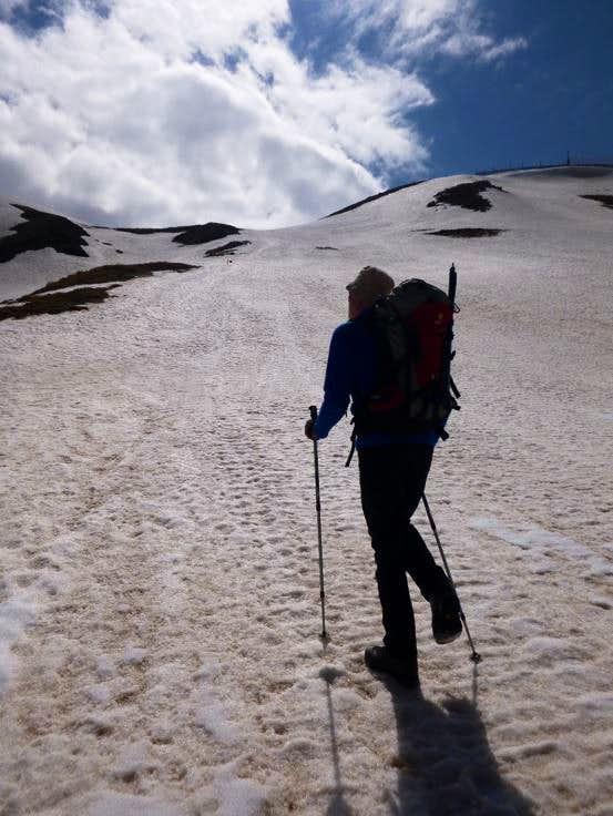 10 - Ken heads for the ridge
