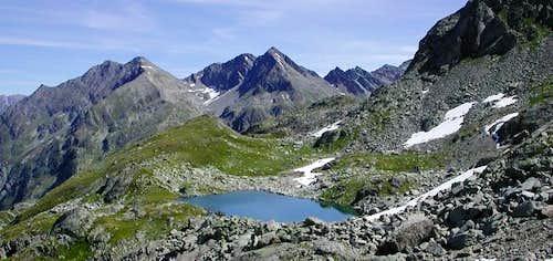 Da sinistra: Il Mont Colmet...
