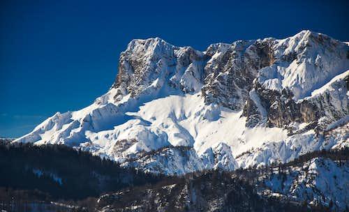 The Untersberg in a sort of wintry