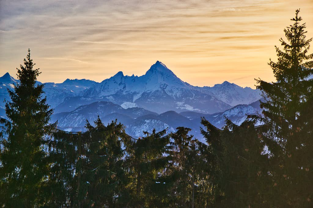 Berchtesgaden Alps seen from the Gaisberg