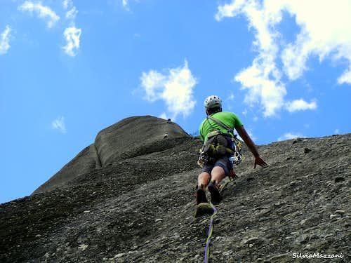Meteora - Delicate balance climbing on Doupiani, route Ohne Vorbehalt
