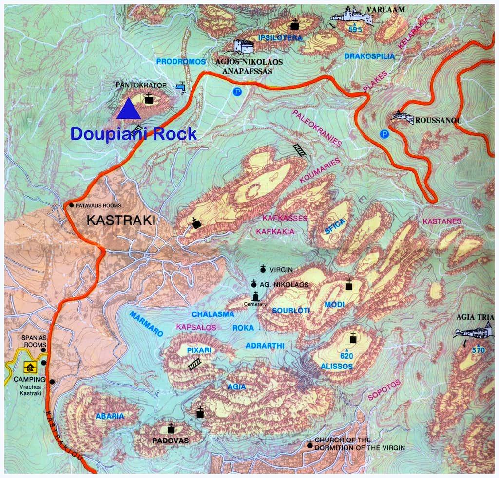 Doupiani map
