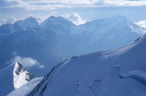 The NE ridge of Nadelhorn as...