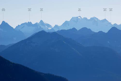 Dome Peak and surroundings