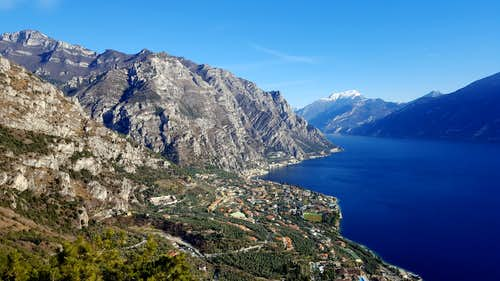 Broad view from Senter delle Farfalle, Monte Bestone