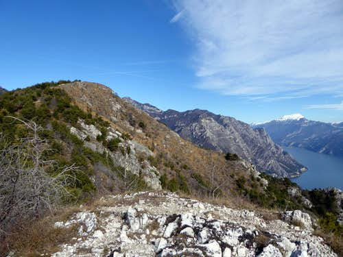 Nearing the summit of Monte Bestone from the Normal route