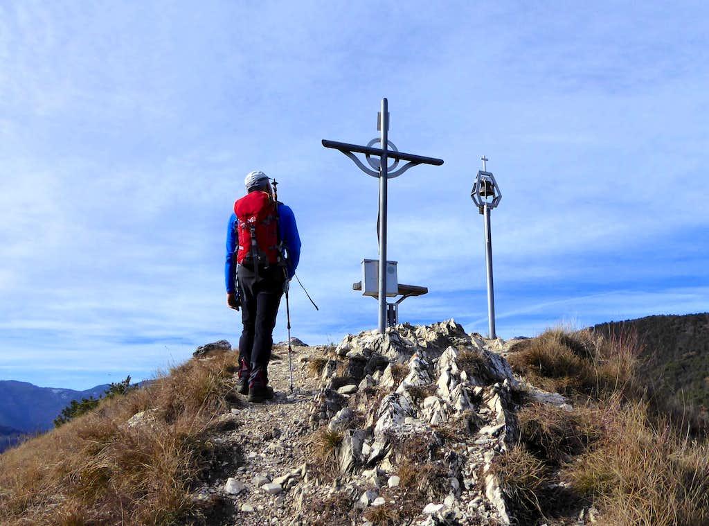 Reaching the summit of Monte Bestone