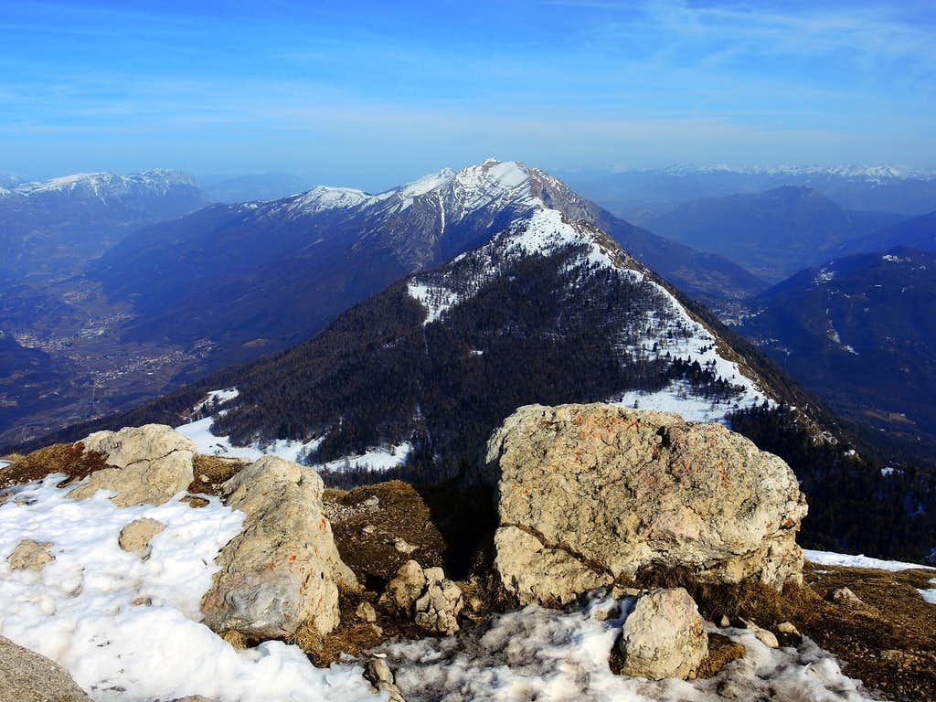 The Bondone Group, Canfedin and Paganella on the left seen from Monte Stivo