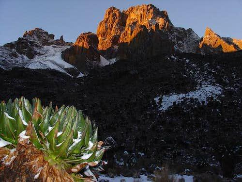 Mount Kenya (Batian) from...