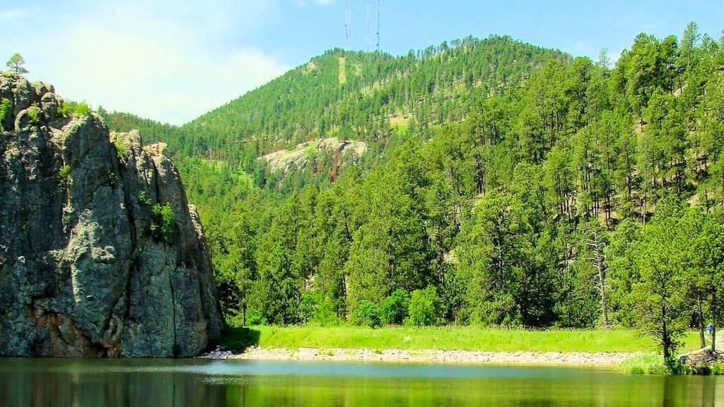 Legion Lake View of Mount Coolidge