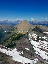 Heavens Peak from Mt. Vaught