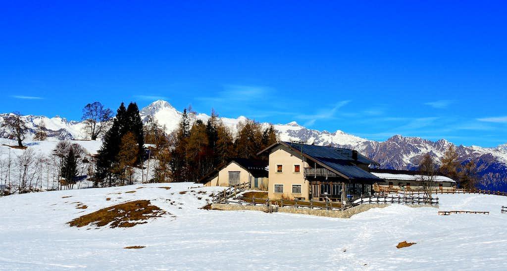 Winter landscape at Malga Stabio