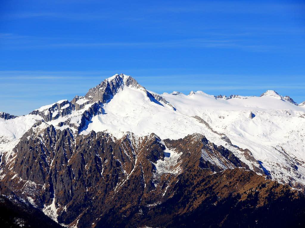 Carè Alto close-up from the top of Cima Sera