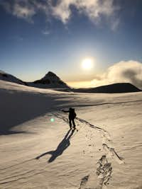 Getting the semi-alpine start on Broken Top