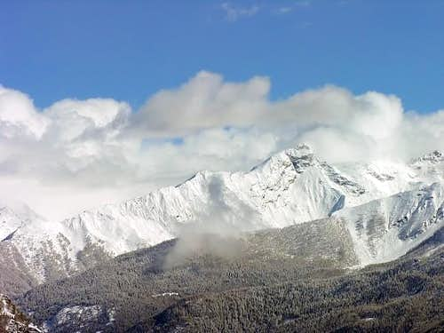 La punta del Ran (3272 m.)...