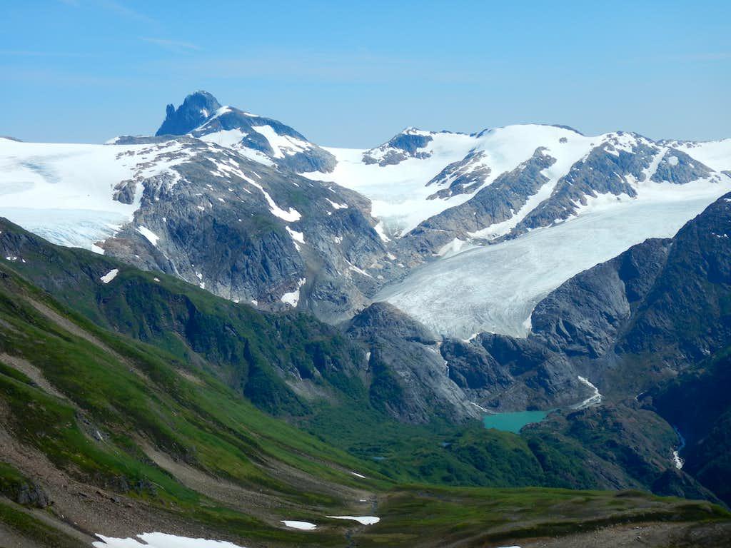 Split Thumb and Lemon glacier from the ridge