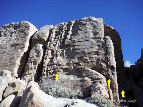 Zebra Cliffs North, 5.6-5.11c