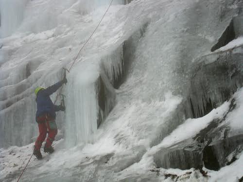 Eisklettern im Odenwald