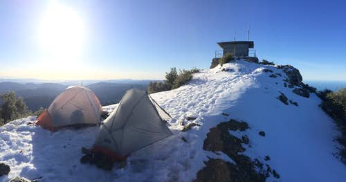 Cone Peak - Our camp north of the lookout