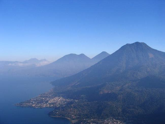 View of Volcan San Pedro and...