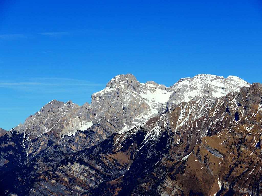 Southern Brenta Dolomites seen from Cima Sera