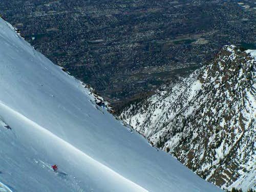 Descending West Peak of Twin