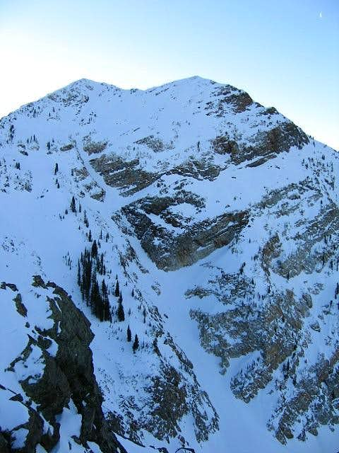 Twin North Face from top of...