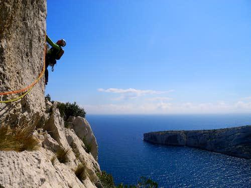 Climb on Aiguille de Sugiton