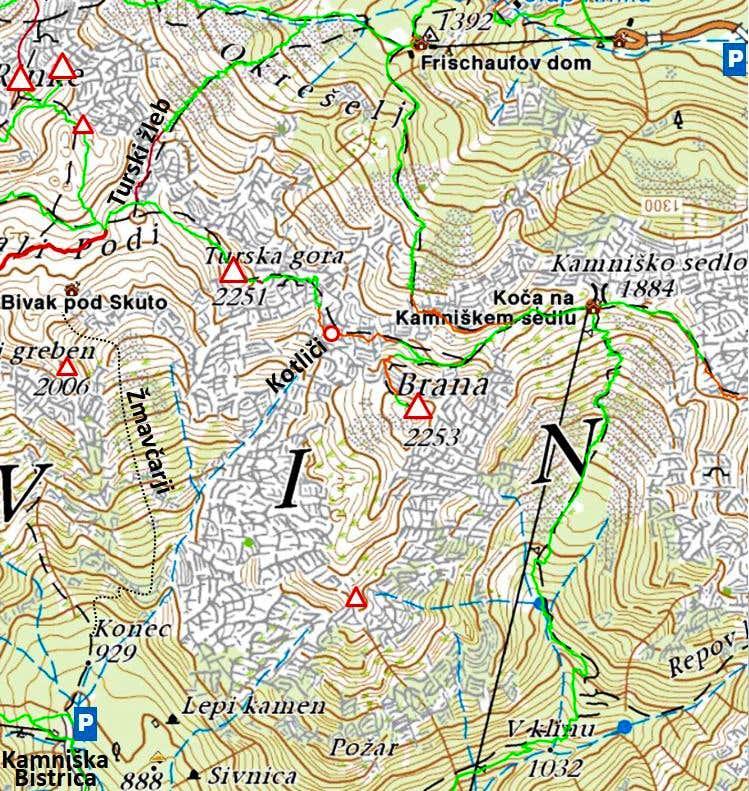 Turska gora map