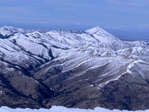 Bannock Peak from Deep Creek....
