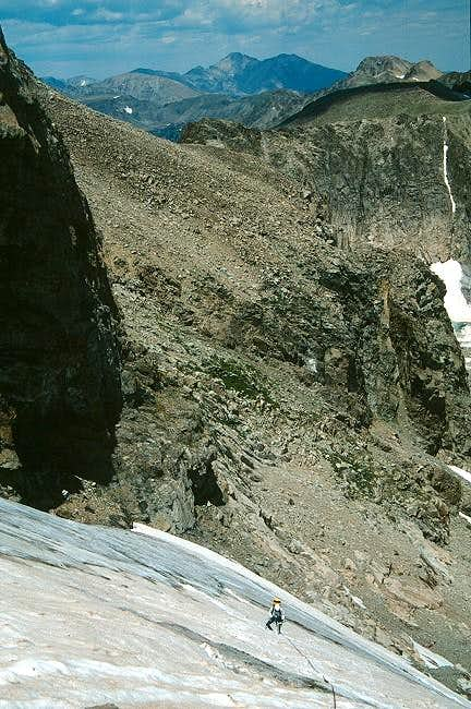Climbing on the upper part of...