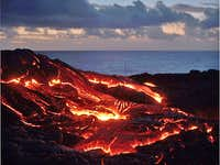 Kileaua lava flow