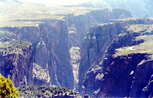 The Black Canyon\'s steepness...