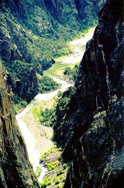 Close up of Gunnison River...