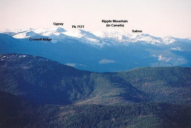 Gypsy Peak environs from the...