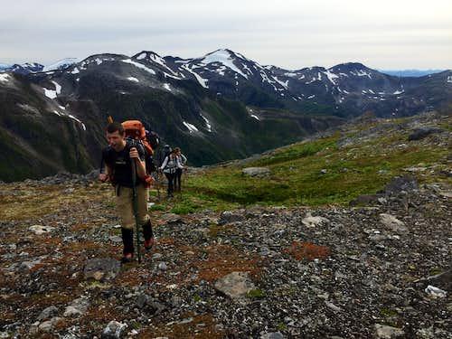 intersecting the Juneau Ridge