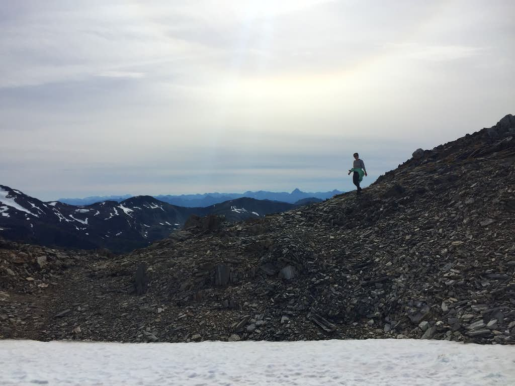 Coming over the ridgeline