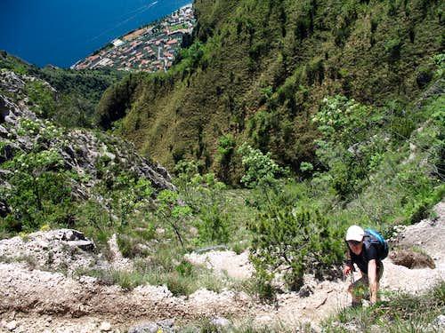 Monte Bestone, alternative route.