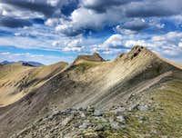 Ridgeline looking back at Miranda Peak