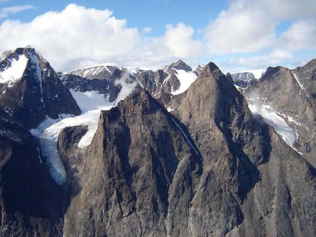 Mount Odin as seen from the...
