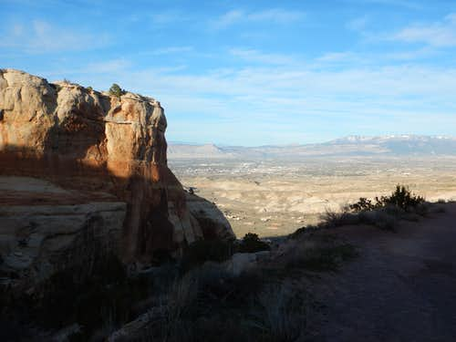 Near the top of the Serpents Trail