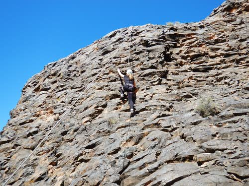 Shaylee climbing