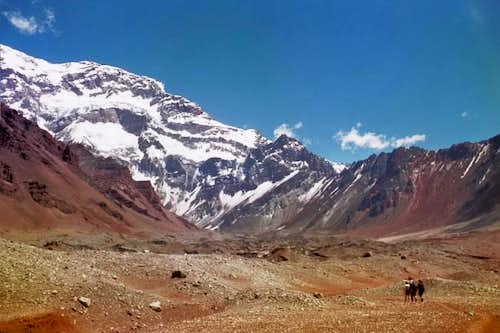 South face Aconcagua,...