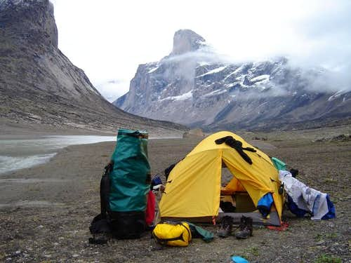Mount Thor is seen in the...