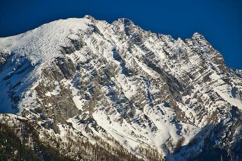 Watzmann west face in April snow
