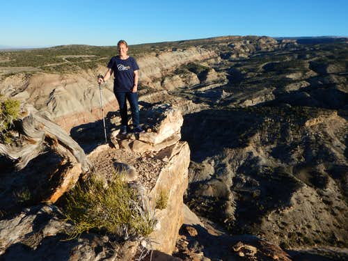 Kimberly on the summit of Peak 5750