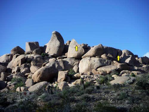 Bird Beak Area (aka Beak Boulder), 5.8-5.10c