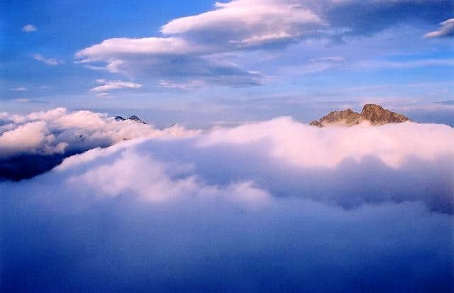 Far above the clouds ...